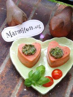 Bavarois à la tomate et au basilic : Recette de Bavarois à la tomate et au basilic - Marmiton