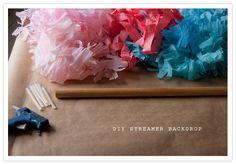 DIY streamer backdrop diy festiv, streamer backdrop, birthday parties, backdrops, layer cakes, backgrounds, festiv streamerbackdrop, diy wedding, diy streamer