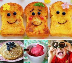 idea, fun food, smiley, french toast, finger foods, food decorations, kids, morning breakfast, bom dia