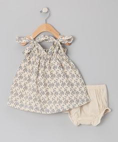 Love this one too!!!  Ecru & Blue Eyelet Swing Dress - Infant & Toddler by Les Petits Soleils on #zulily today!