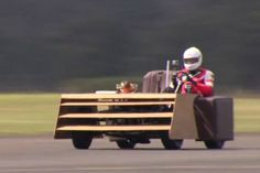 100 miles per hour... on a sofa!