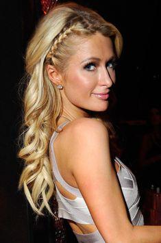 Paris Hilton Long Braided Hairstyle