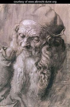 """""""Study of a Man Aged 93"""" I loved the history on this mans face and how Durer shows such detail in his work."""