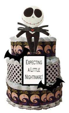 diaper cakes, cake gift, christma theme, jack skellington baby shower, babi shower, baby showers
