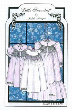 beauti children, heirloom creation, heirloom sewingsmock, smock pattern, creation fine