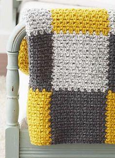 Patchwork blanket (pattern) by Bernat Design Studio