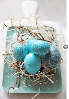 Easter egg idea: Turquoise Easter eggs