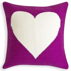 #Modern #Throw #Pillows | Reversible Purple Peace/Love Pop Pillow | $145