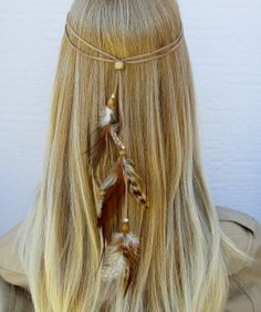 TINY DANCER hippie headband feathers suede by feathers2gether, $21.00