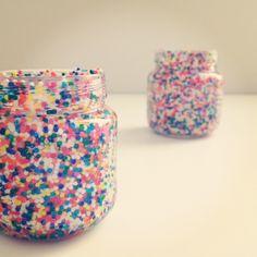 Mason Jars??  DIY: Candy Sprinkle Baby Food Jar Vases