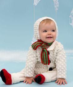 Free Crochet Snowman Cutie Baby Set Pattern