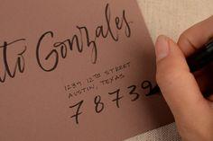 Best ever DIY tutorial on addressing envelopes.