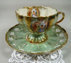 Lusterware Cup & Saucer
