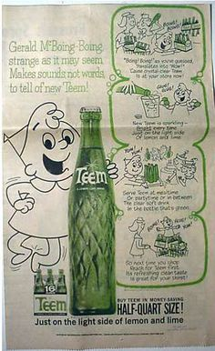 Teem soda ad with Gerald McBoing-Boing  c. 1962