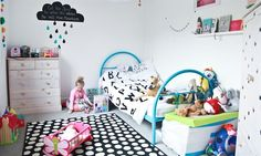 We love this child-friendly mix of monochrome and bright colours.