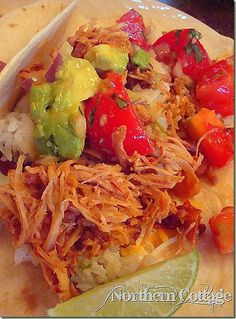 Mexican Shredded Pork Tacos cooking in the slow cooker as I type this ...