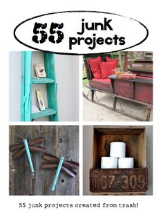 55 cool junk projects rescued from the trash! #Hometalk