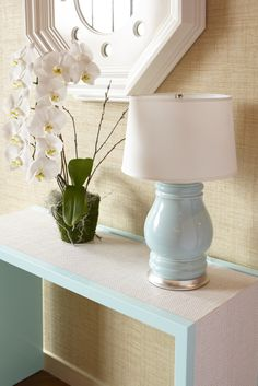 oomph Harbour Island Console, Westport Mirror and Charleston Lamp.