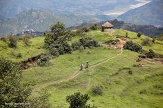 Kathmandu trail, Nepal - The ride from Lhasa to Kathmandu defies superlatives. The countryside covers an amazing range from barley filled valleys, dramatic arid passes, the grandeur of Everest to the almost unreal descent into the greenery of Nepal clinging to the walls of steep river gorges.