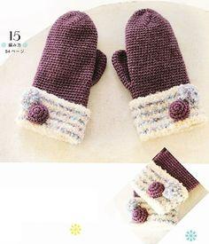 crochet gloves with full pattern!