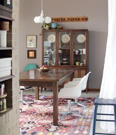 Eclectic Ohio Ranch Dining Room - Making Nice in the Midwest