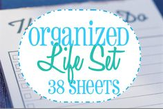 Home Organization Printables..home binder/planner