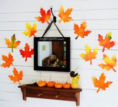 WOW, aren't these gorgeous? Take a fall twist on watercolor art and decorate with these Autumnal Watercolor Leaves | AllFreeKidsCrafts.com