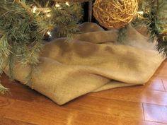 holiday, craft, burlap christmas, burlap tree, christma decor, christma tree, christma idea, christmas trees, christmas tree skirts