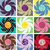 Swiss Daisy Paper Pieced Quilt Block - via @Craftsy