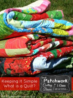 Keeping it Super Simple- What is a Quilt? pre-k patchwork   Patchwork Posse #quilting #sewing