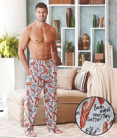 Bacon Makes Everything Better Lounge Pants...hahahaa! This photographer did well!