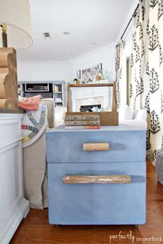 Trunk Side Table Makeover