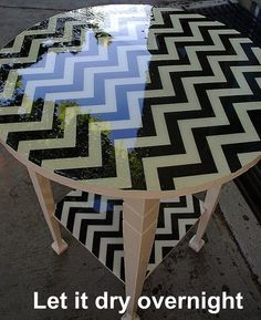 Mod Podge fabric to a side table, pour resin on top, let it dry overnight into something fabulous! decor, mod podg, craft, idea, podg fabric, side tables, resins, pour resin, dri overnight