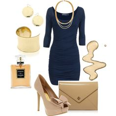 Love this dress and the tan accents with the navy:) Starting off the week dressin' it up kids!!!!