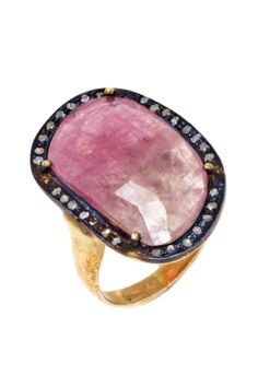 Pink Sapphire Diamond Halo Ring : Love it