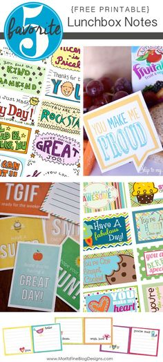 Your kids will love when you surprise them with a little note in their lunch! Print these free notes out now and use them throughout the school year!