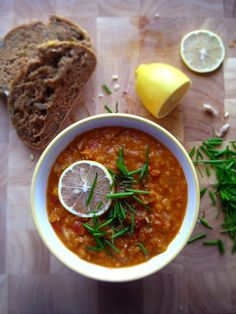 lentil soup... i must make this. it looks so yum