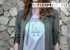 This is so cool: DIY screen print tshirt method