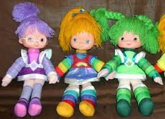 1980's vinyl and cloth body Rainbow Brite dolls.