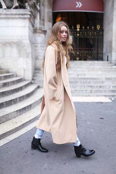 long long coat.. Beige