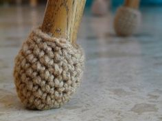 Crochet Chair Leg Sock - such an easy and great idea!