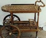 Areeca Antique Carved Furniture & Handicrafts Tea Trolley, Tea Cart