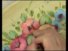 """Peinture Décorative : """"Le Style Floral Italien"""" par David Jansen - YouTube"""