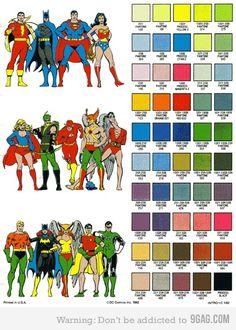 Superheroes Pantone