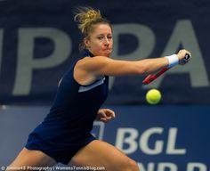 Pauline Parmentier's backhand at the BGL BNP Paribas Luxembourg Open http://www.womenstennisblog.com/2014/10/15/tough-day-top-seeds-luxembourg-highlights/