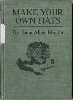 sewing hat pattern, onlin book