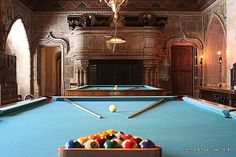 Mr. Hearst loved to have billiard parties for his guests.