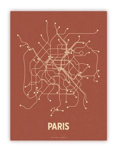 paris lineposter screen print. by john breznicky of lineposters.