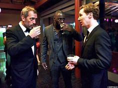Hugh Laurie, Idris Elba and Benedict Cumberbatch benedictcumberbatch, idris elba, hugh laurie, british men, idriselba, hous, idri elba, benedict cumberbatch, sherlock