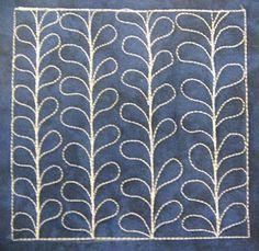 Mario Vine (orla kiely type quilt design)